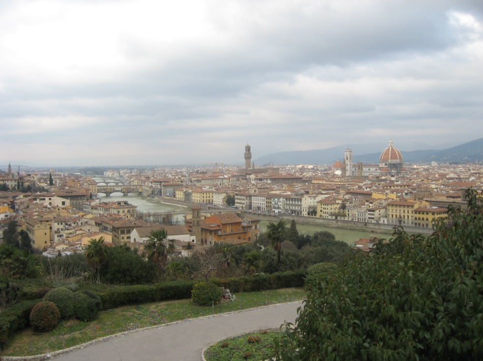 Florence, the Arno, Duomo and Ponte Vecchio