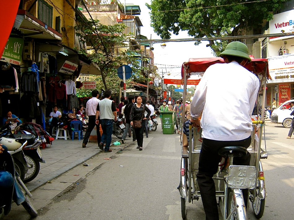 Cyclo in Hanoi, Vietnam