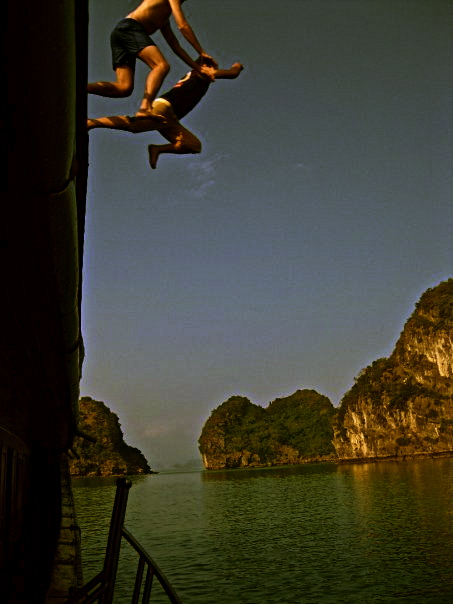 Ha Long Bay Jumping off the Boat