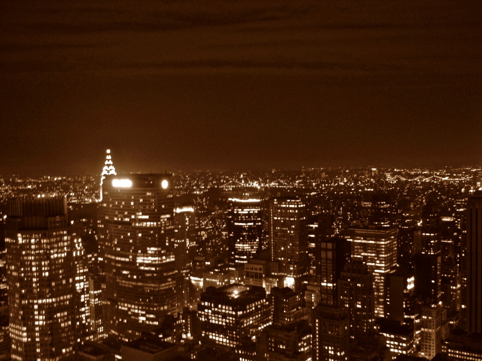 New York from the Rockefeller Center - Top of the Rock