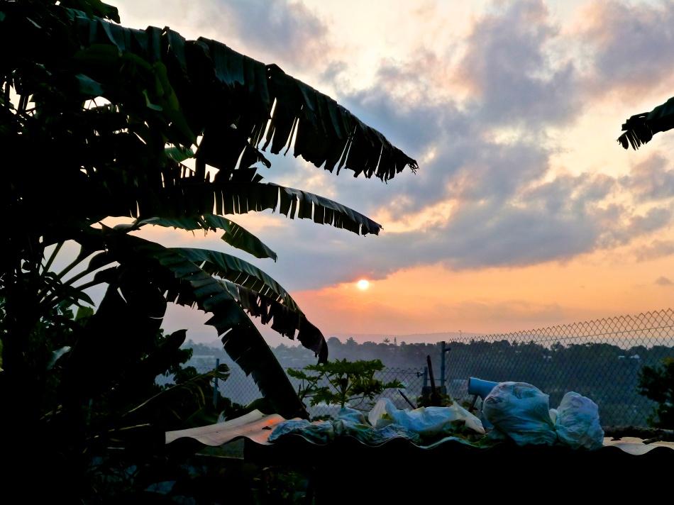 Vanuatuan Sunset from a Backyard