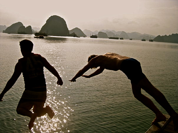 Ha Long Bay - Jumping off the junk boat