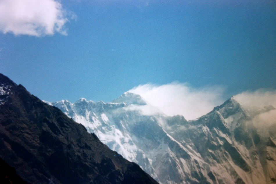 Last view of Mount Everest